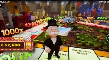 9,600x World Record Win on Monopoly Live