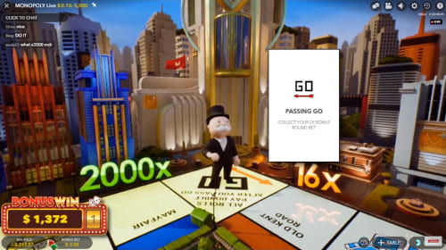 Evolution Gaming Monopoly Live