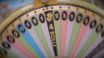 Monopoly Live Wheel Stopped on 4 Rolls Segment o