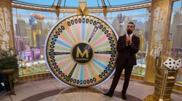 Monopoly Live wheel spinning
