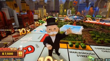 Mr Monopoly lands on Vine street with 10x multiplier